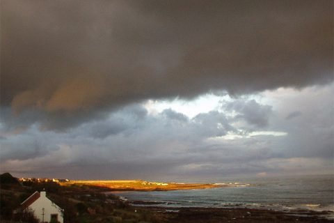 crail sun and storm
