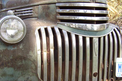 old truck grill